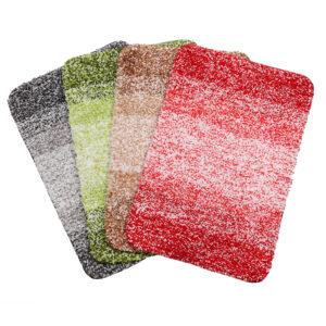 Custom Absorbent Floor Mat Polyester Microfiber Bath Rug Washable Toilet  Non-Slip Rug Wholesale