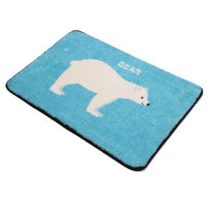 Wholesale Custom Absorbent Pet Floor Lovely Mat Polyester Ultra Soft Bath Rug Washable Toilet  Non-Slip Mat