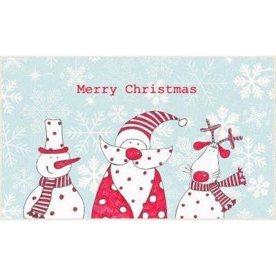 plastic christma door mat