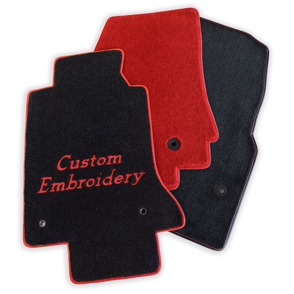 custom car mats with embroidered customized